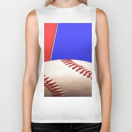 Baseball Sports on Blue and Red Biker Tank