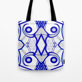 Blue morning - abstract decorative pattern Tote Bag