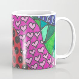 Color Zentangle Girl Coffee Mug