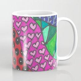 Color Zentangle Girl Coffee Mug