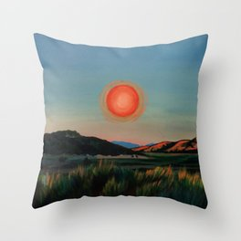 southwest sun Throw Pillow