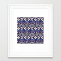 ikat Framed Art Prints featuring IKAT by Isabella Salamone