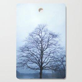 Bare Tree in a Blue Fog Cutting Board