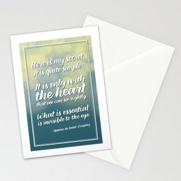 """Here is my secret"" Quote Stationery Cards"