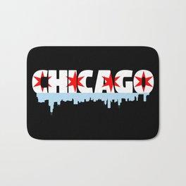 Chicago Flag Skyline Bath Mat