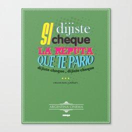 Argentina Cinema Canvas Print