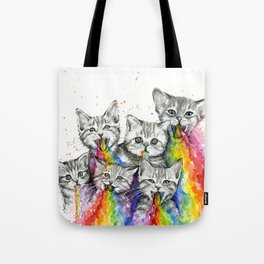 Kittens Puking Rainbows Tote Bag