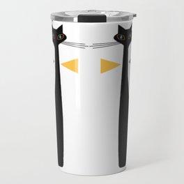 Mid-Century Modern Art Cat Double 1.0T Travel Mug