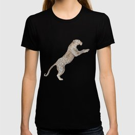 Leaping Leopard - Watercolor T-shirt