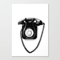 telephone Canvas Prints featuring Telephone by Plasmodi