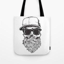 skull with beard Tote Bag