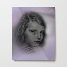 the little girl - vintage -1- Metal Print