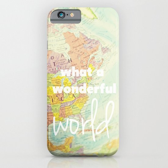 What a Wonderful World iPhone & iPod Case