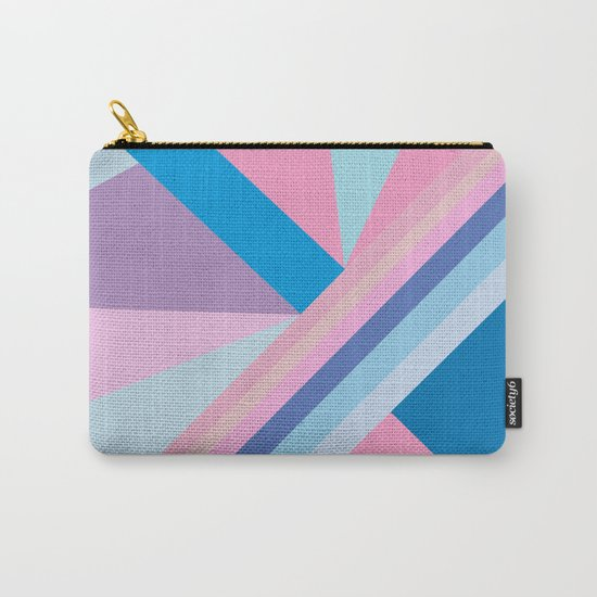 Trendy modern pink blue abstract pattern  Carry-All Pouch