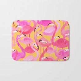 Flamingo pattern orange Bath Mat