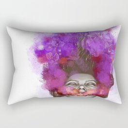 Free thoughts colorful painting Rectangular Pillow