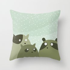 a beaver, a squirrel and a no particular rodent Throw Pillow