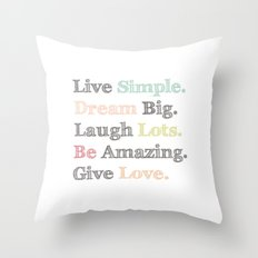Inspiration Typography Quote Words Pastel  Throw Pillow