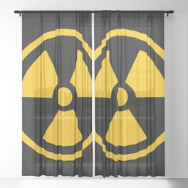 Yellow Radioactive Sheer Curtain