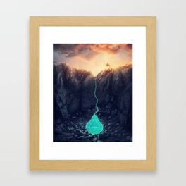 The source Framed Art Print