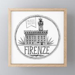 Palazzo Vecchio, Firenze Framed Mini Art Print