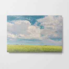Gallatin County Storm Clouds Metal Print