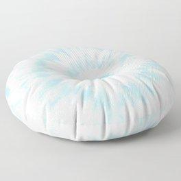 Lighter Ocean Blue Tie Dye Floor Pillow