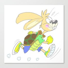 HARE OR TORTOISE Canvas Print