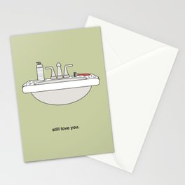 Hairy Sink Stationery Cards