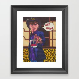 Cowboy Albarn Framed Art Print
