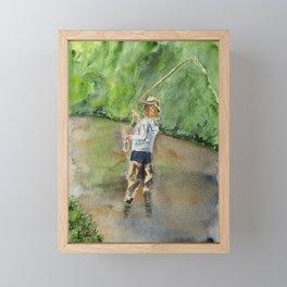 Fly Fishing on Duschee Creek Framed Mini Art Print