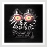 majora Art Prints featuring Majora Mask by Janismarika