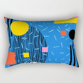 Crank - 80s retro throwback minimal abstract painting memphis style trendy vibes all day Rectangular Pillow