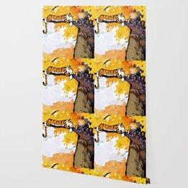 calvin and hobbes sleep Wallpaper