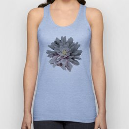 Grey Dahlia Bloom With Pink Unisex Tank Top