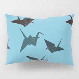 Blue origami cranes Pillow Sham