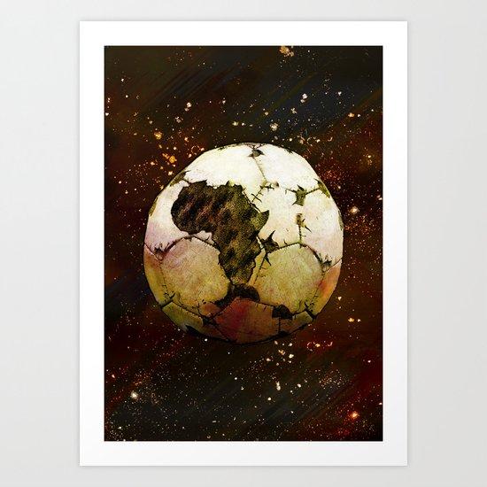 Africa Football Art Print
