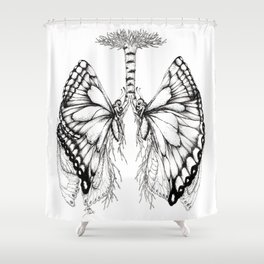 Butterfly Lungs Shower Curtain
