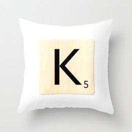 Scrabble K Throw Pillow