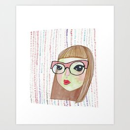 Manic Pixie Alien Girl Art Print