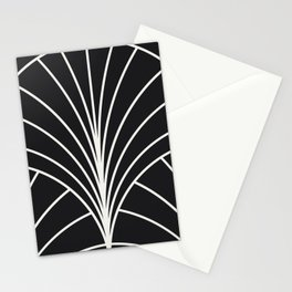 Diamond Series Floral Burst White on Charcoal Stationery Cards