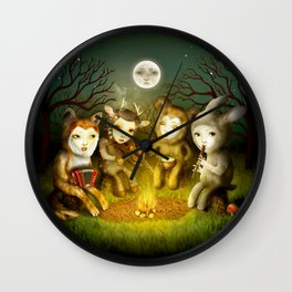 Forest Orchestra Wall Clock