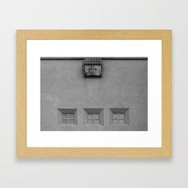 Three Little Windows Framed Art Print