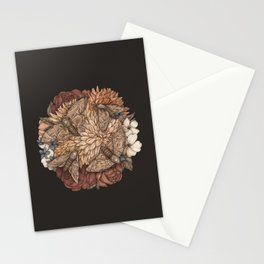 Flowers and Moths Stationery Cards