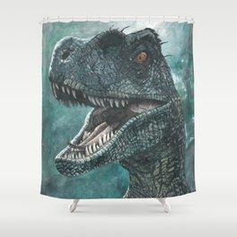 Jurassic Raptor Shower Curtain