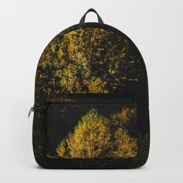 Yellow tree standing out from the crowd Backpack