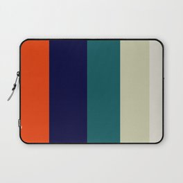 Orange & Teal Geometric Pattern Laptop Sleeve
