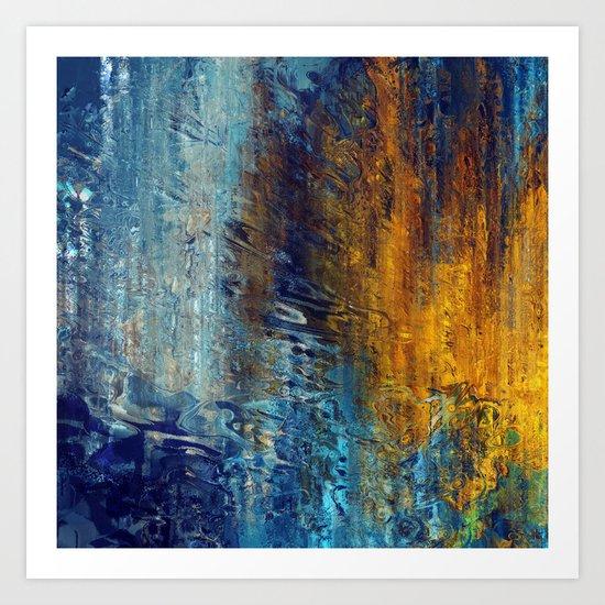 Aqua 55 Art Print
