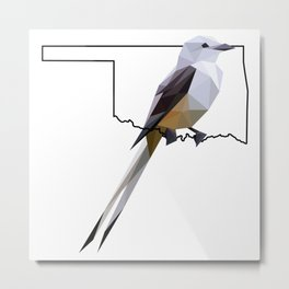 Oklahoma – Scissor-Tailed Flycatcher Metal Print