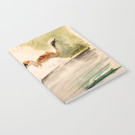 Stoat in the sunset (watercolor) Notebook